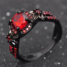 red stones rings images Cubic zirconia quot red stones quot womans ring blown biker jpg