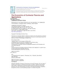 the economics of contracts theories and applications pdf download