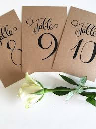 wedding table numbers letterpress wedding table numbers coco press
