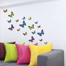 monarch butterfly wall stickers wall decals 21 piece mixed monarch butterfly wall stickers wall decals 21 piece mixed colours size amazon co uk kitchen home