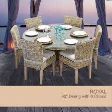 Round Wooden Patio Table by 60 Inch Round Outdoor Dining Table Beige Dining Table