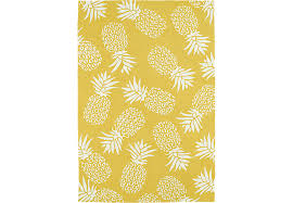 Outdoor Rug 6 X 9 Pineapple Paradise Gold 7 6 X 9 Indoor Outdoor Rug Rugs Yellow