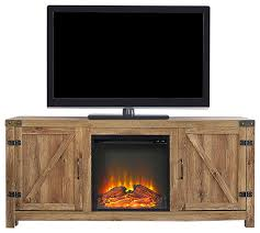barn door fireplace tv stand barnwood 58
