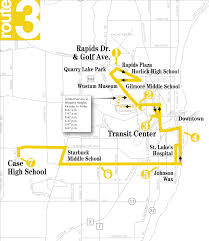Wisconsin City Map by Racine Transit Route 3 City Of Racine