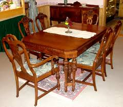 Dining Table And Six Chairs 1920 U0027s Solid Walnut Dining Table W Six Chairs U0026 Buffet Southwest