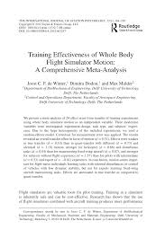training effectiveness of whole body flight simulator motion a