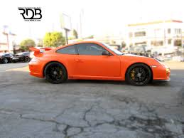 porsche matte red rdb la porsche 997 gt3 matte orange customized