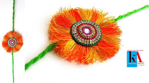 rakhi making with silk thread how to make rakhi at home for