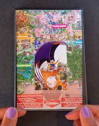 Disney Map Show Your Diy Disney Side Disney Parks Guide Map Photo Mat