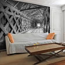Schlafzimmer Welches Holz Vlies Fototapete 3d Holz Tunnel Tapete Tapeten Schlafzimmer