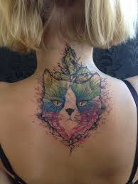 my spacecat a cover up to an small wolf on my