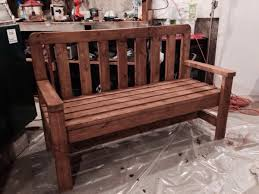 How To Make A Simple Wooden Bench - high back wooden bench plans wooden bench plans design idea