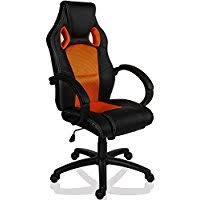 fauteuil de bureau orange amazon fr fauteuil de bureau orange chaises et tabourets