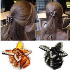 Decorative Hair Claws Dazzling Gold And Peach Spring Bloom Floral Crystal Hair Claw Clip