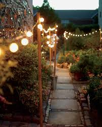 Backyard Lighting Ideas For A Party by Community Garden Potluck Party Martha Stewart