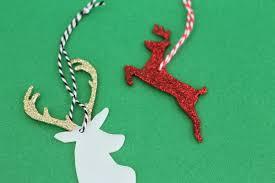 glitter deer shrink plastic ornaments