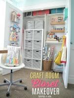 Closet Craft Room - 20 inspiring pegboard creative spaces tatertots and jello