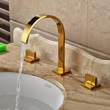 gold finish deck mounted sink faucet