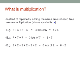 what is multiplication introduction to multiplication ppt