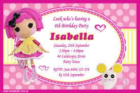 printable lalaloopsy invitation invite studioinvite studio