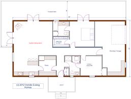 Single Floor Plan by Floor Plan 30 U0027x60 U0027 Single Level Log Home Rancher Bungalow Style
