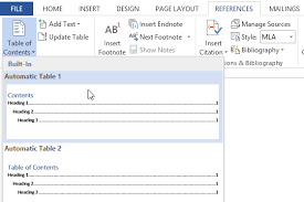 create table of contents in word word tips how to create a table of contents in word full page