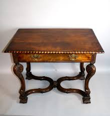 william and mary table a william mary style walnut carved side table 373416