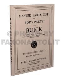 1928 1941 buick body parts book reprint