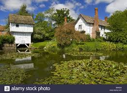 the gatehouse and moat with lower brockhampton house the medieval