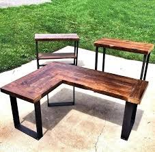Diy Led Desk L Diy L Desk L Shaped Corner Desk Diy Desk Decor And Organization