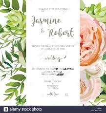 Invitation Card With Photo Wedding Invitation Floral Invite Card With Pink Garden Rose