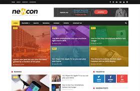 newcon news magazine responsive blogger template themexpose
