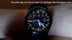 gear o u0027clock digital world watch face for samsung gear s2 and