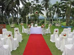 outdoor and patio charming red carpet combined with small altar