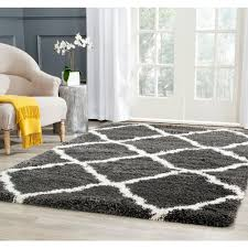 Area Rugs 6 X 10 Safavieh New Orleans Shag Platinum Ivory 8 Ft X 10 Ft Area Rug