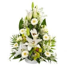 voeux de bonheur pour un mariage composition de fleurs blanches pour mariage