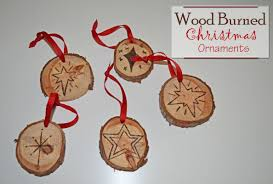 diy christmas ornaments easy pyrography wood burning