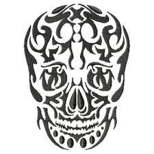 tribal skull skull tribal tattoo tribal art pinterest