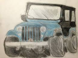 jeep drawing my drawing of stiles jeep roscoe teen wolf amino