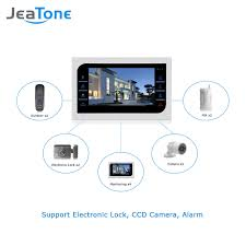 2pcs 10 inch tft wired video door phone intercom security camera