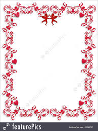 illustration of valentine hearts border ornamental frame