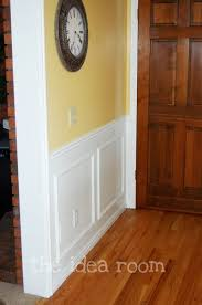 Wainscoting Pre Made Panels - diy faux wainscotting the idea room
