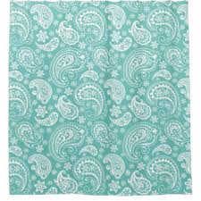 turquoise paisley shower curtains zazzle