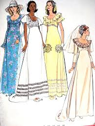 vintage wedding dress patterns retro bridal gown wedding dress pattern butterick 3491
