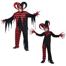 Mens Clown Halloween Costumes Krazed Jester Evil Clown Fancy Dress Halloween Costume Mens Adults