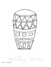 conga drums coloring page spanish classroom pinterest congas