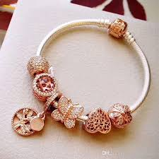 rose gold bracelet charm images Best gifts 2018 rose gold charm bracelets top quality 925 sterling jpg