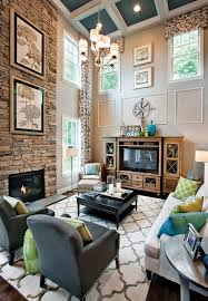 Fireplace Entertainment Center Family Room Transitional With Stone - Family room entertainment