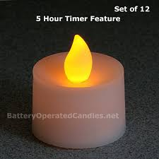 flameless tea lights led battery operated 12 pack 5