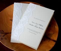 what is a wedding program lace wedding program flyoung studio